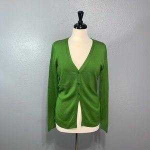 NY&Co | Green 3 Button Cardigan Sweater M